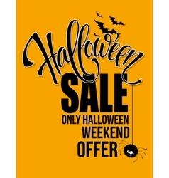 Halloween sale Happy holiday vector image