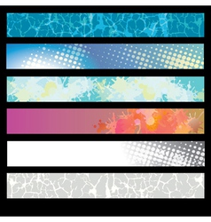 Abstract Splatter Pattern Banner vector image vector image