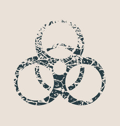 biohazard cracked sign vector image