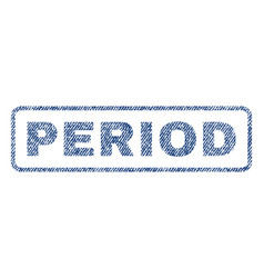 period textile stamp vector image vector image