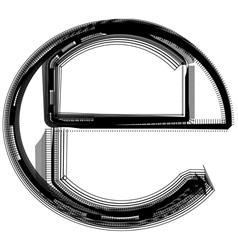 Abstract font symbol vector
