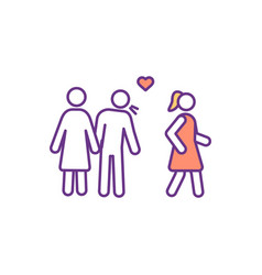 Adultery rgb color icon vector