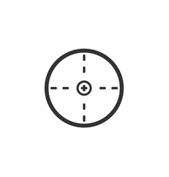 aim icon flat vector image