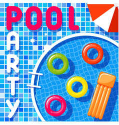 banner of a pool party vector image