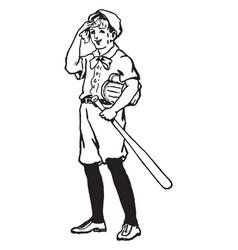 Batter vintage vector