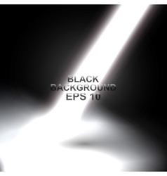 black background in the rays of light vector image