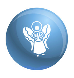 blue xmas angel icon simple style vector image