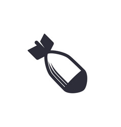 bomb icon on white vector image