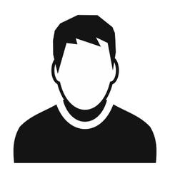 Boy avatar simple icon vector image