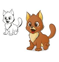 brown cat vector image