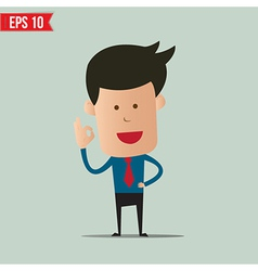 Business man showing a ok symbol - - EPS10 vector