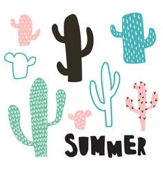 cactus set vector image
