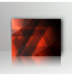 card with abstract geometrical background vector image