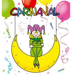 Carnival card vector