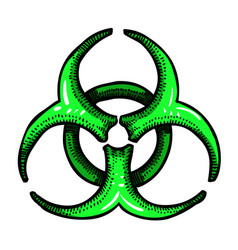 Cartoon image of biohazard sign vector