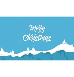 Christmas landscape with spruce silhouettes vector