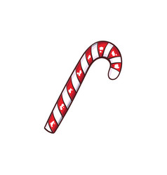 Christmas or new year green candy cane vector