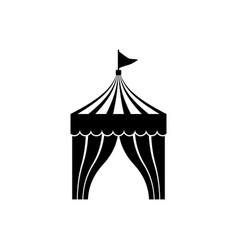 Circus tent icon vector
