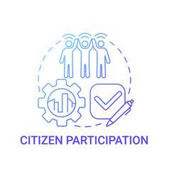 Citizen participation gradient blue concept icon vector