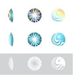 Contact lens logo set vector