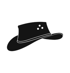 Cowboy hat icon simple style vector