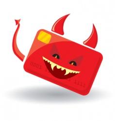 Devil card vector
