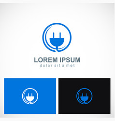 Electric shocket icon business logo vector