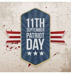 Eleventh September Patriot Day Tag vector image