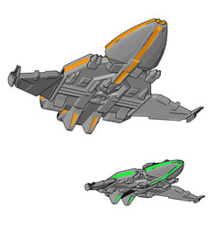 fantasy spacecrafts non white background vector image