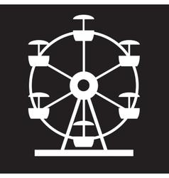 Ferris wheel icon silhouette entertainment round vector