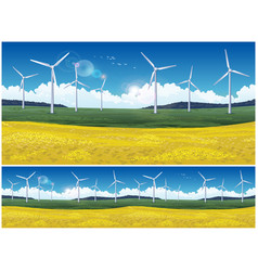 Field and wind generators vector