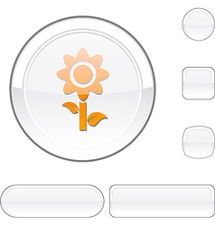 Flower white button vector