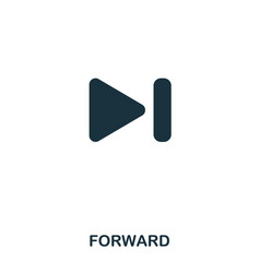 forward icon line style icon design ui vector image