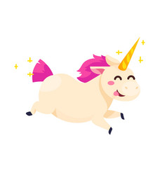 funny unicorn isolated on white background vector image