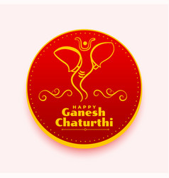Ganesh chaturthi wishes card creative design vector