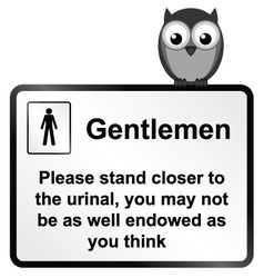 Gents Urinal vector image