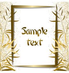golden bamboo frame vector image