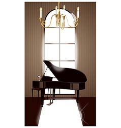 Grand piano room vector
