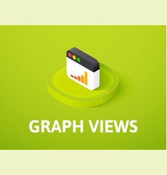 Graph views isometric icon isolated on color vector