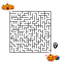 Halloween border for design cartoon smiling vector