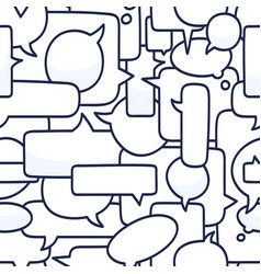 Hand drawn speech bubbles seamless pattern on vector