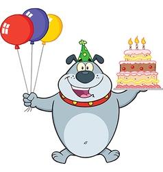 Happy birthday dog cartoon vector