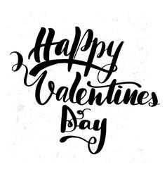 happy valentines day brush hand vector image