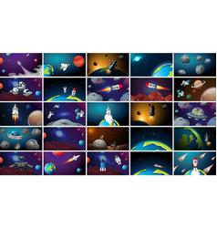 Huge set space scenes vector