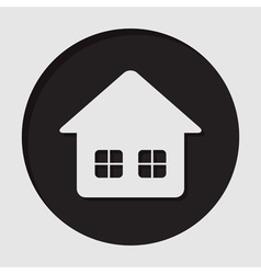 Information icon - home with two windows vector