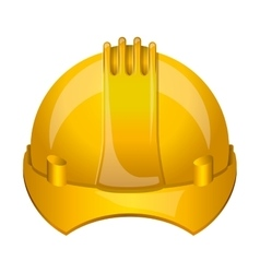 Isoalted helmet of under construction design vector