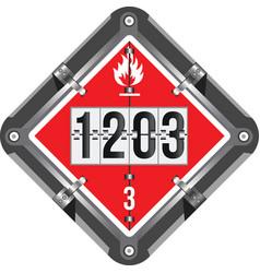 Labeling dangerous goods class 3 vector