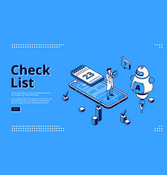landing page check list for business vector image