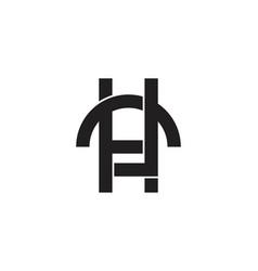 letter h c mono line logo designs inspiration vector image