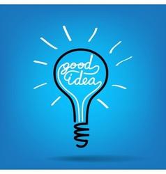 light bulb idea vector image